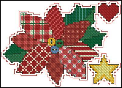 Рождественская пуансеттия Dimensions