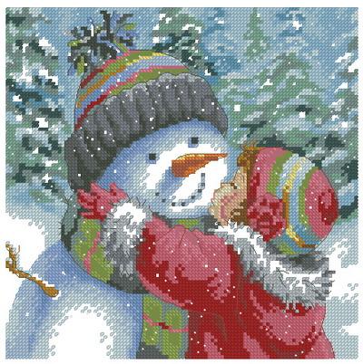 Девочка со снеговиком Dimensions