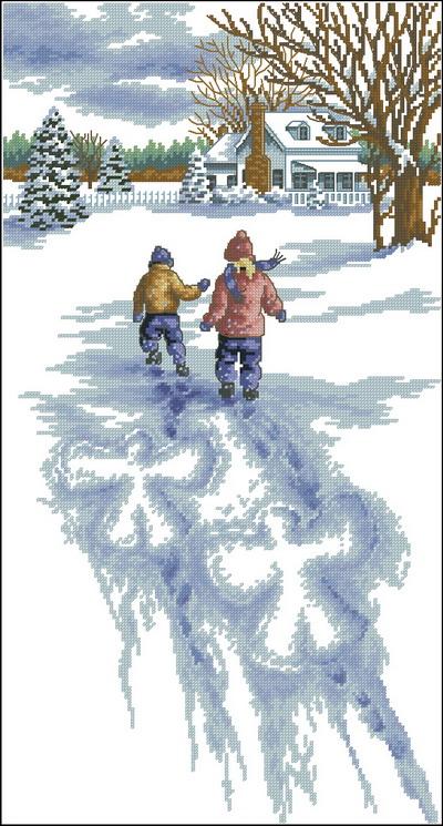 Дети зимой Dimensions