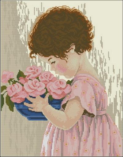 Девочка с цветами Dimensions