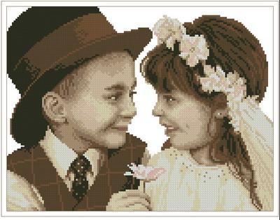 Девочка и мальчик свадебное Dimensions