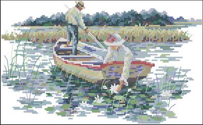 Пара в лодке Dimensions