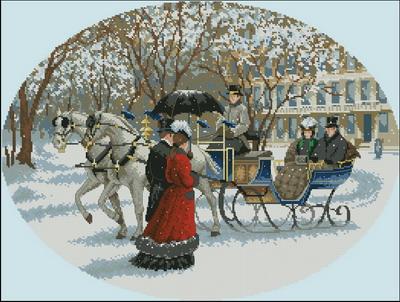 Люди зимой Dimensions
