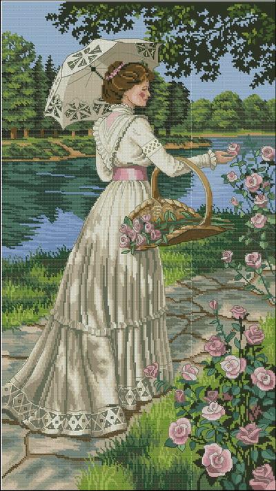Женщина в саду Dimensions