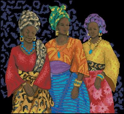 Три темнокожих женщины Dimensions