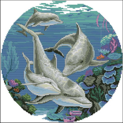 Схема для вышивки крестом (xsd).  78.21 Kb (cкачиваний: 1409).  Название:Dancing dolphins Артикул: #00295...