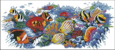 У меня много планов и хотелок, но насмотревшись на процесс.  Мур Мяу.  Вчера начала новую работу.Тропических рыбок от...
