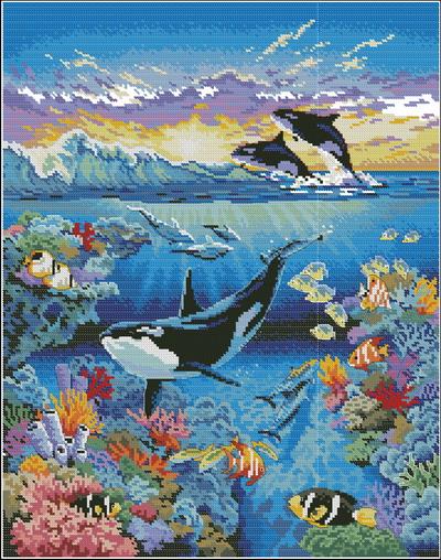 Морской мир-жители океана Dimensions