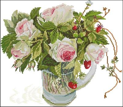 Цветы розы Fujico