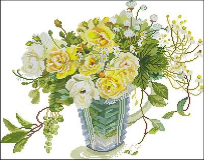 Цветы желтые розы Fujico