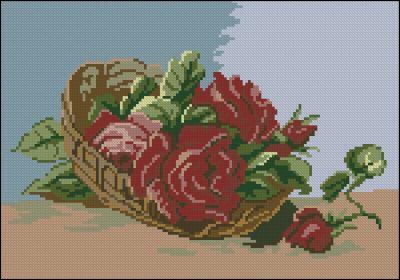 Goblenset Корзина с красными розами