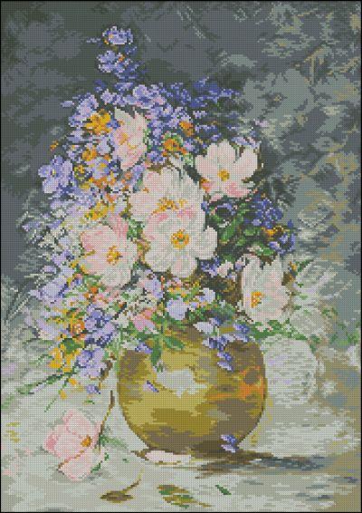 Goblenset Цветы шиповника