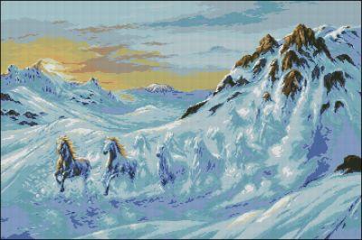 Goblenset Лошади на снегу