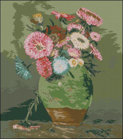 Goblenset Цветы в глиняном кувшине