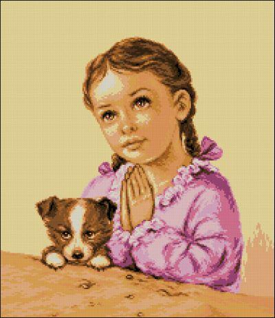 Goblenset Молящаяся маленькая девочка