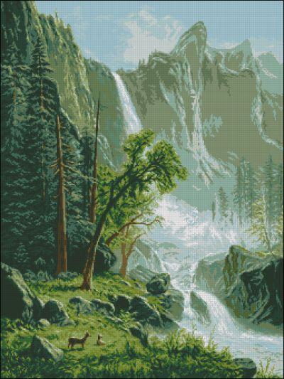 Goblenset Пейзаж с водопадом