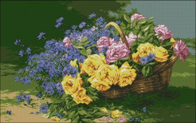 Goblenset Корзина с цветами