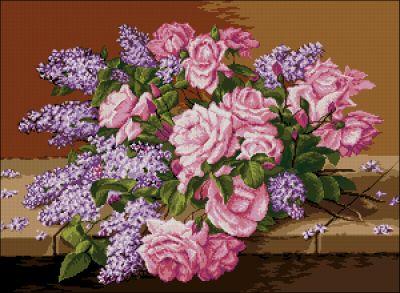 Goblenset Сирень и розы