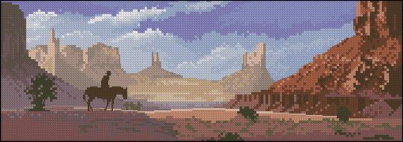 Панорама John Clayton - Долина монументов