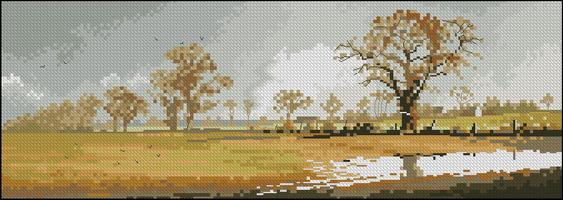 Панорама John Clayton - Зимнее поле