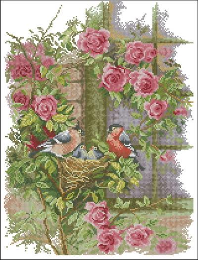 Lanarte Птицы Розы