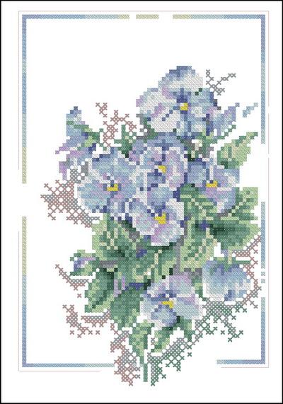 Lanarte Цветы Анютины глазки