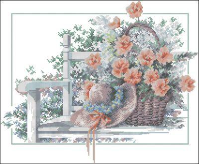 Lanarte Букет цветов на лавке