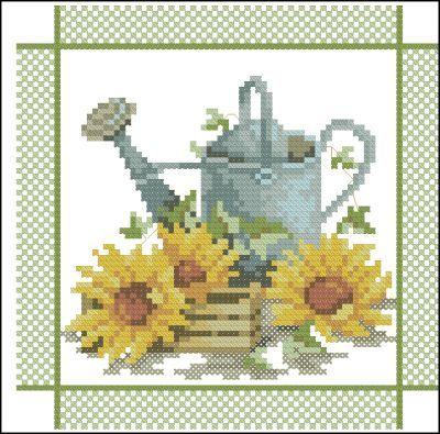 Lanarte Цветы Подсолнухи и лейка