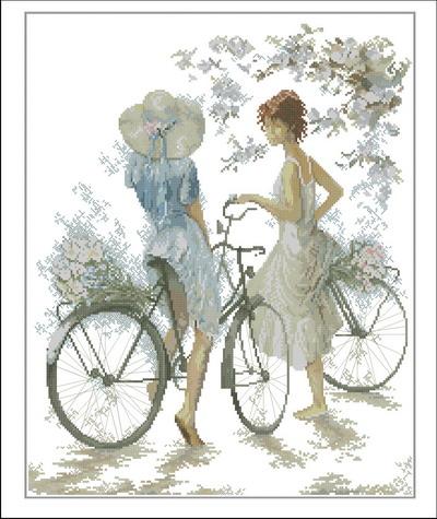 Lanarte Девушка с велосипедом