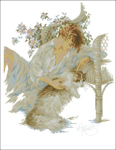 Lanarte Девушка с кошкой