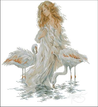 Lanarte Девушка с фламинго